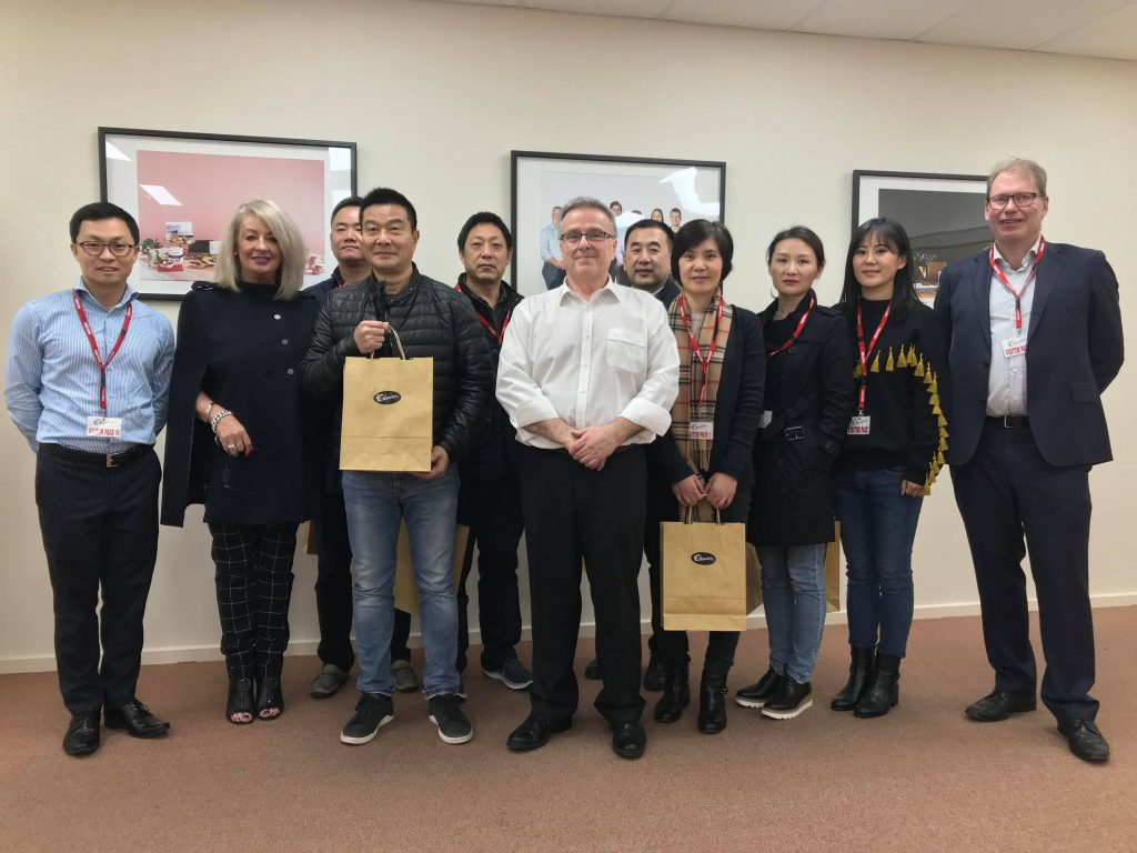 Chocolatier - delegation from China