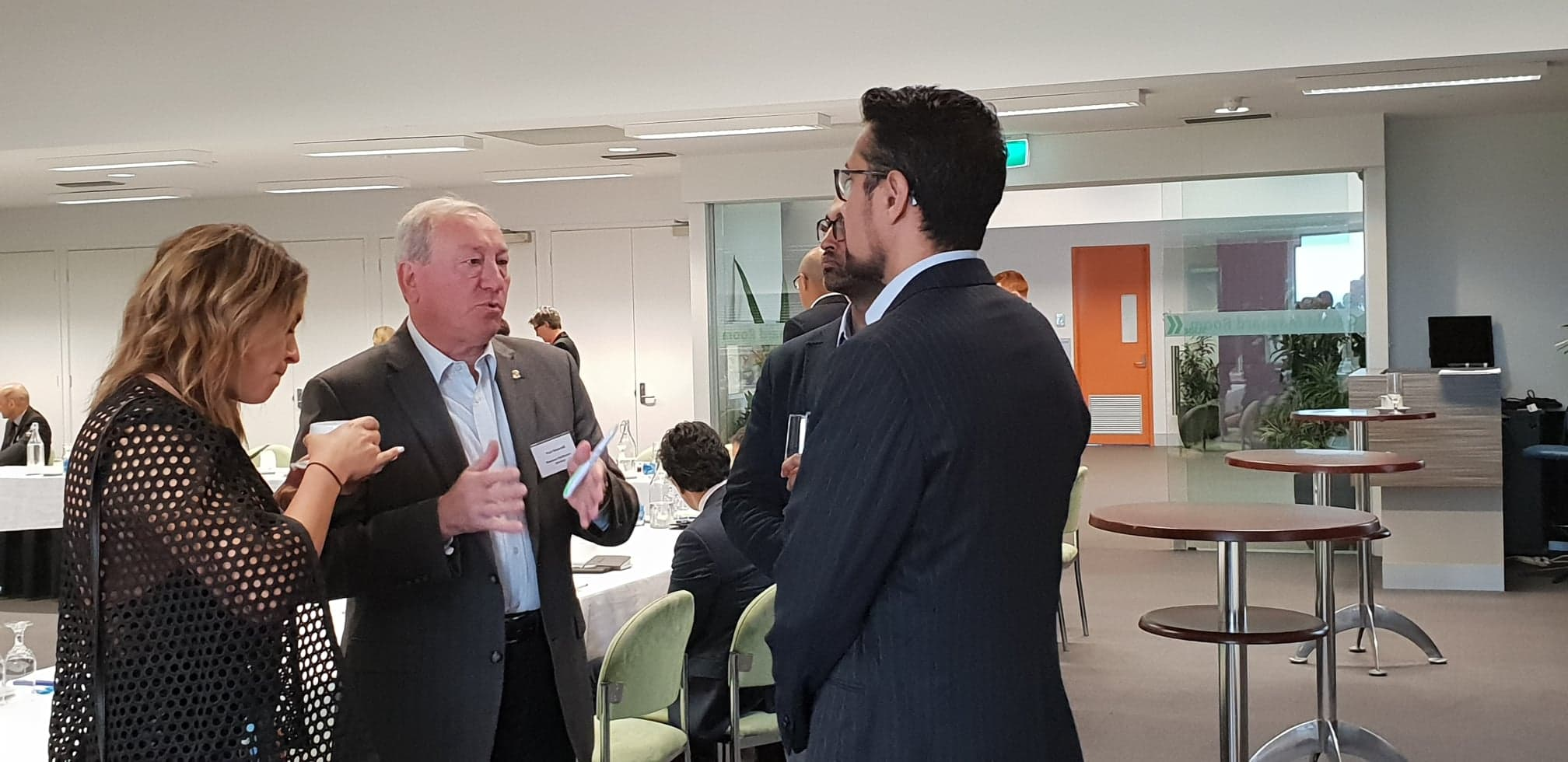 Partners give advise to each other at Melbourne's North Food Group industry roundtable