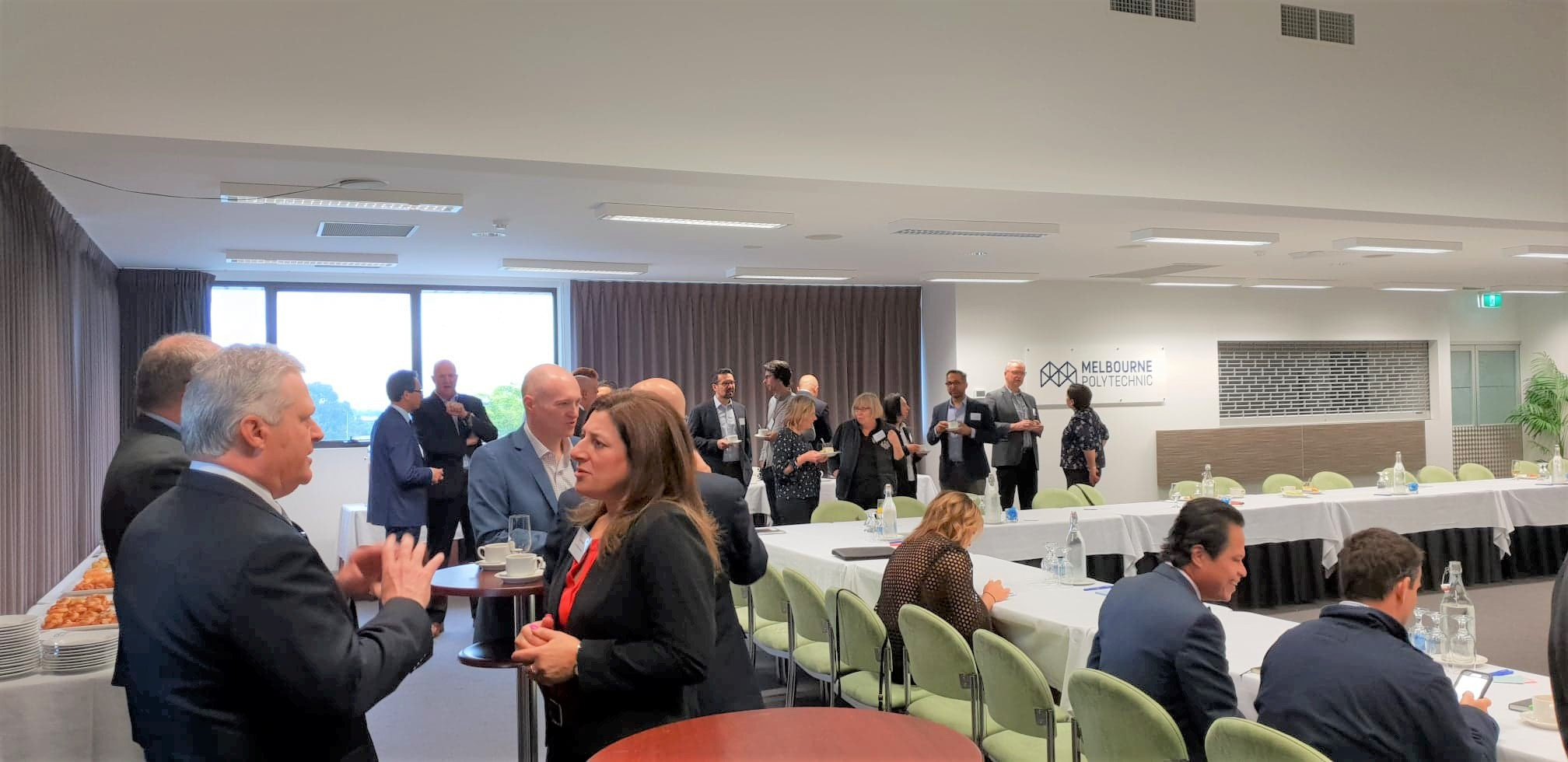Partners networking at their table at Melbourne's North Food Group industry roundtable