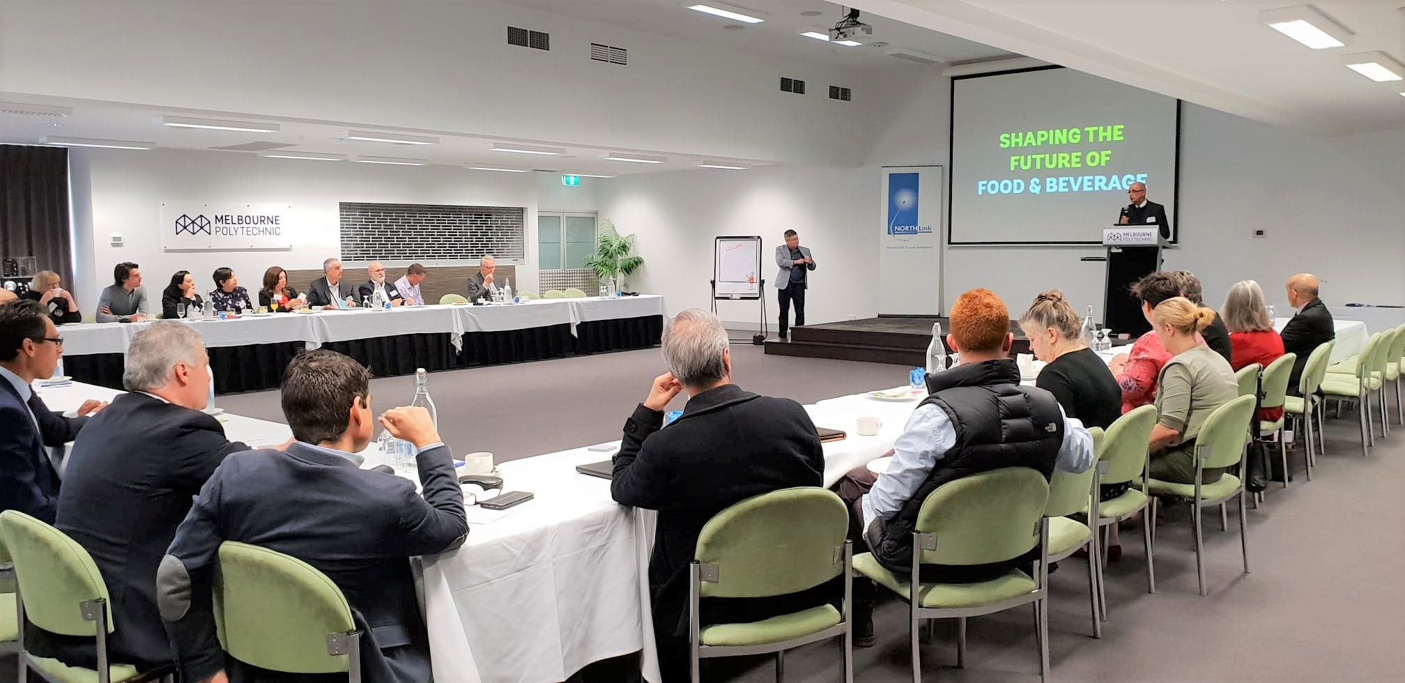 Tony Coppola speaks at Melbourne's North Food Group industry roundtable