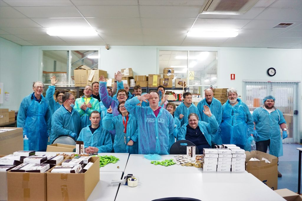 Bedford HiCity employees celebrate in group photo
