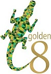 Golden 8 skincare small logo