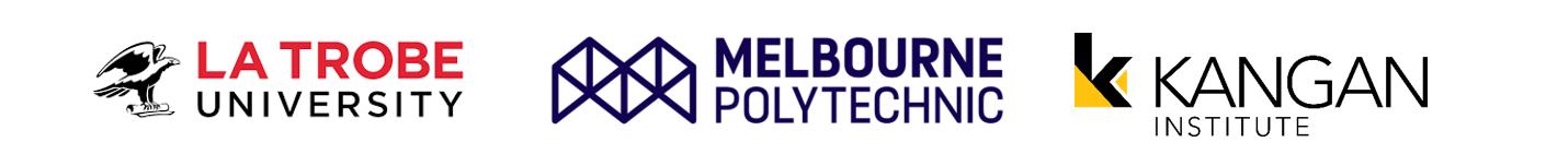 La Trobe University Melbourne Polytechnic Kangan Institute logo